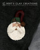 Pin - Santa Face - Rustic Colors - Bert's Clay Creations