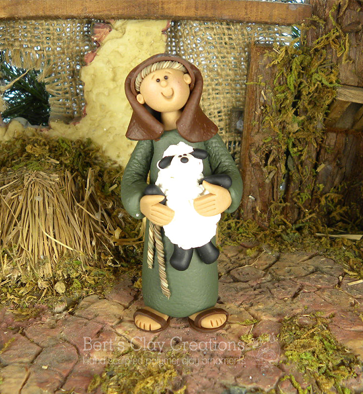 Nativity - Shepherd NEW - Bert's Clay Creations