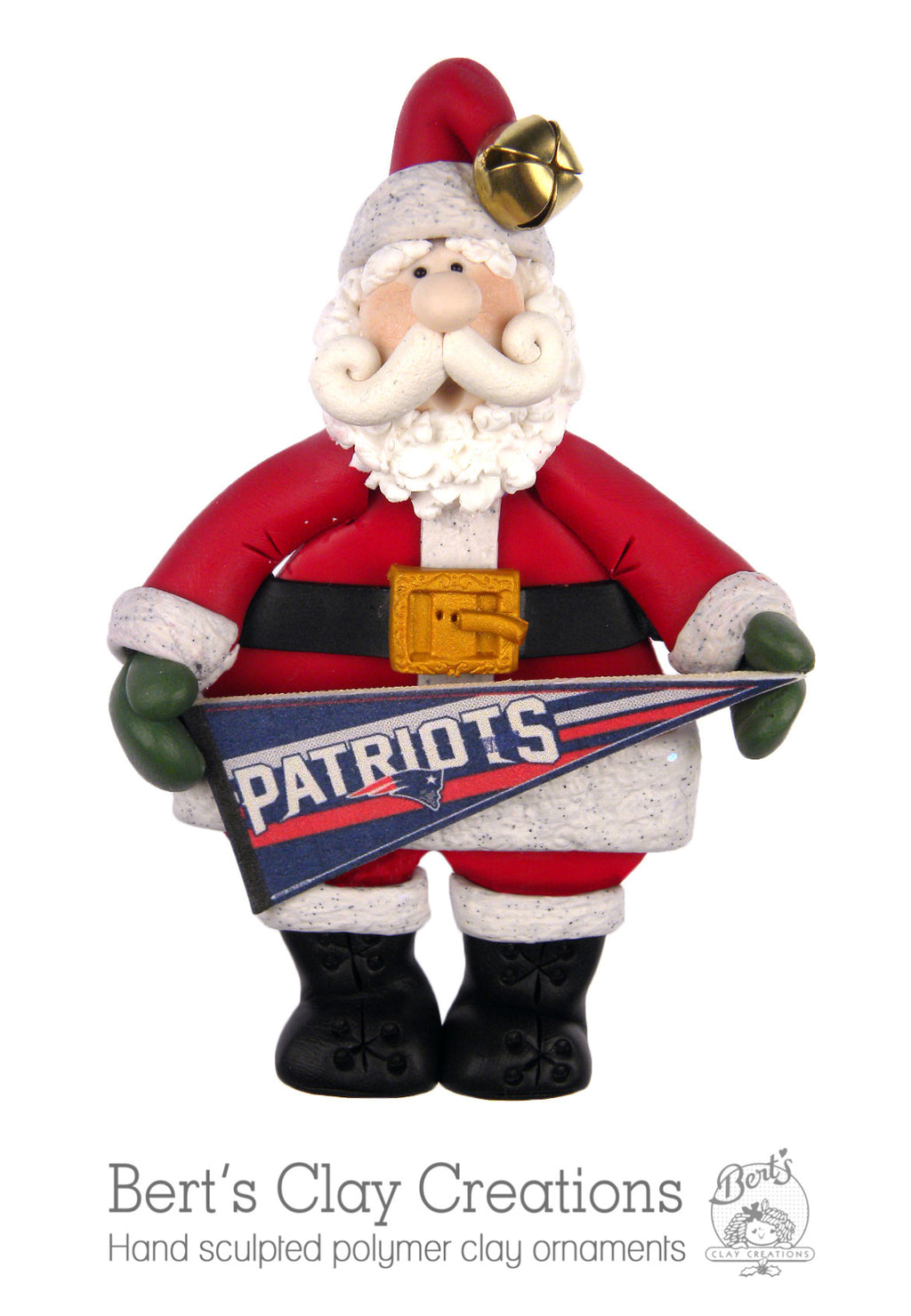 Santa's Favorite Team Pennant Ornament