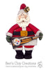 Santa's Favorite Team Pennant Ornament - Bert's Clay Creations