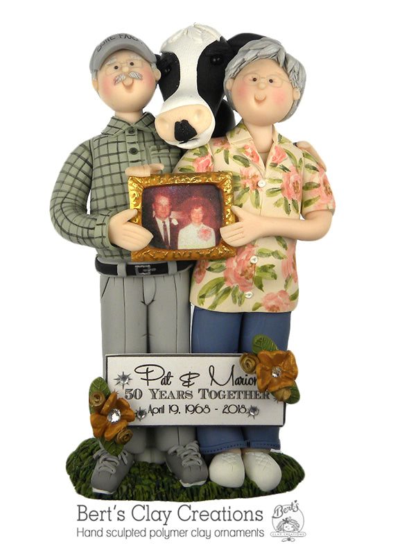 CUSTOM Anniversary Full Body Ornament Submission Quote - Bert's Clay Creations