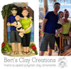 CUSTOM Full Figure Family Ornament Submission Quote - Bert's Clay Creations