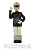 USNA Black Dress Uniform Graduate Ornament - Bert's Clay Creations