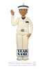 Navy Plebe Ornament - Bert's Clay Creations