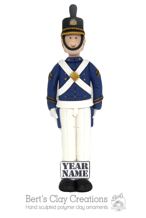VMI Military Ornament - Bert's Clay Creations