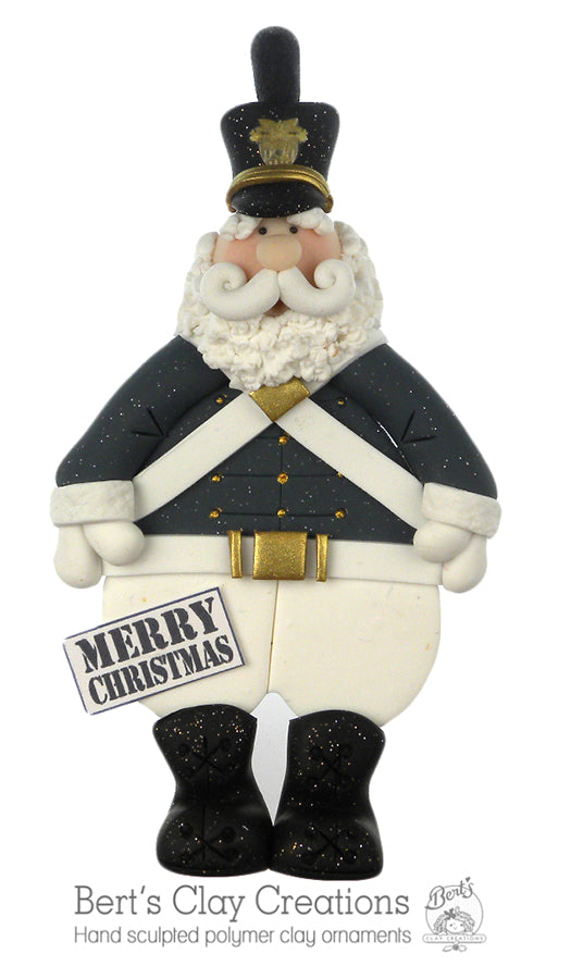 West Point Plebe Santa Ornament - Bert's Clay Creations