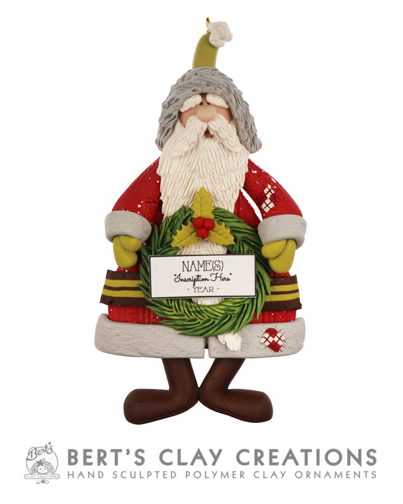 Whimsey Wonderland - Santa with Wreath