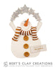 White Christmas - Snowman Ornament - Bert's Clay Creations