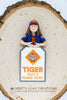 BSA - Tiger Scout Bust Ornament - Bert's Clay Creations