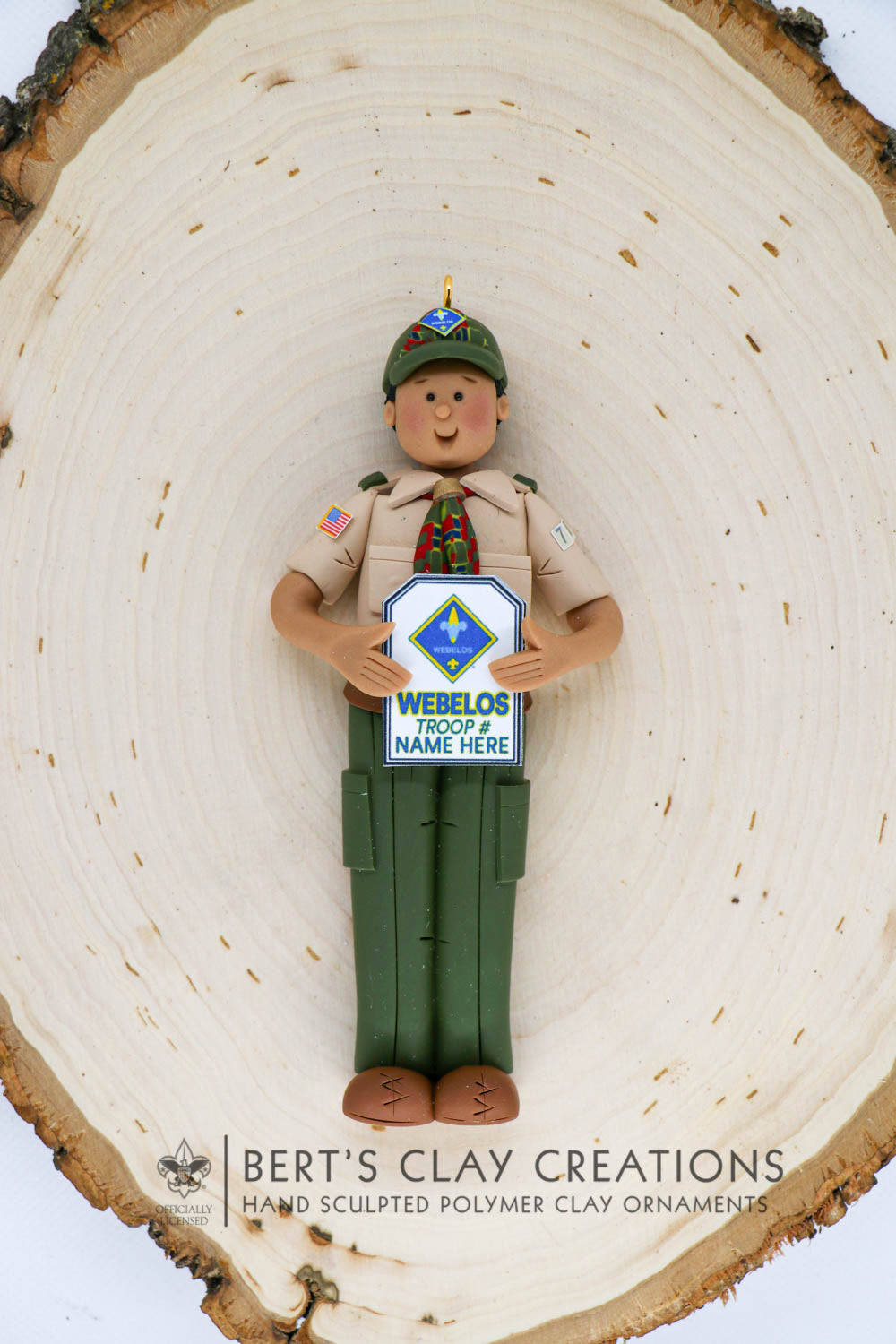 BSA - Webelos Ornament (Full Length Version) - Bert's Clay Creations
