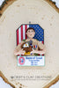 BSA - Eagle Scout Ornament with American Flag Background - Bert's Clay Creations
