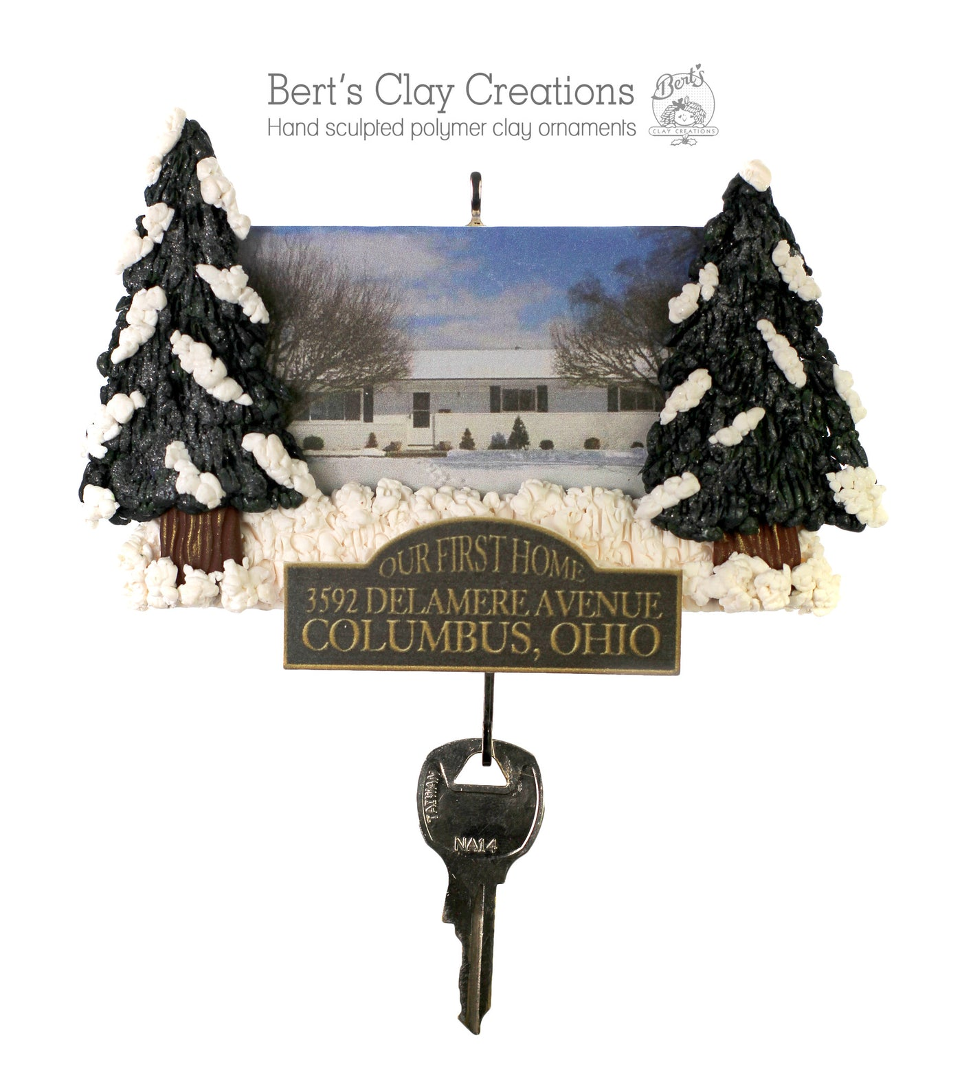 House Ornament by Bert s Clay Creations – Bert s Clay Creations