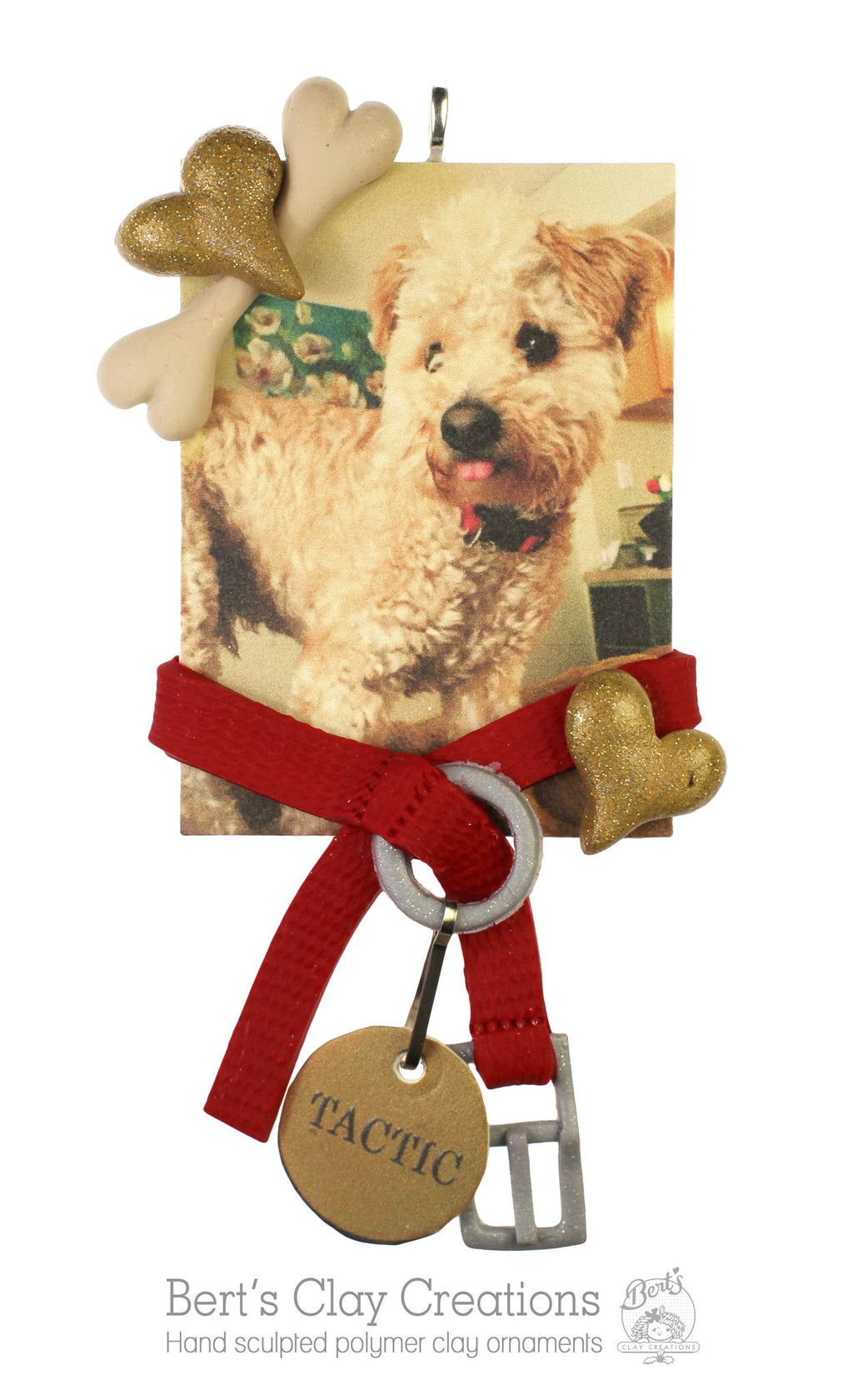 Pet Photo with Personalized Tag Ornament