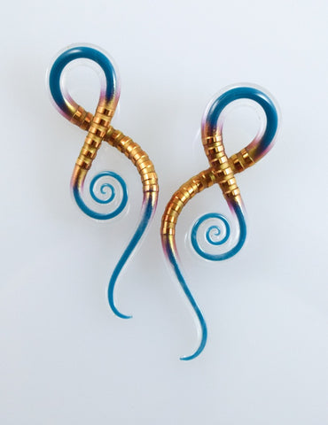 Carved Gold Captured Teal | Squids | 6G - 00G