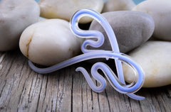 Captured Periwinkle Seaglass | River Snakes | 14G - 0G