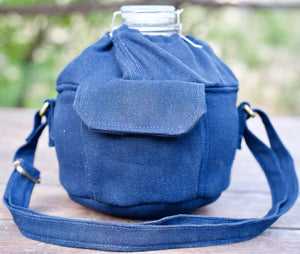 Blue Hemp Globe Bag