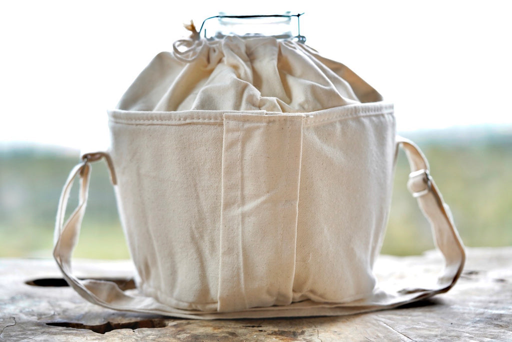 1 Gallon Globe Insulated Organic Cotton Bag