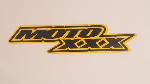 Moto XXX Die Cut Window Sticker - Black & Yellow