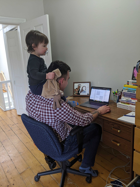 ben working with child