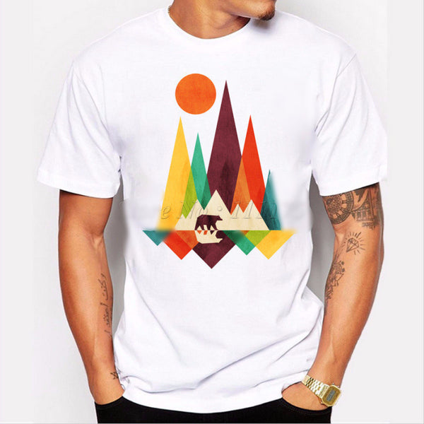Mountain Bear Mens' T-shirt Print - Ace Gift Shop