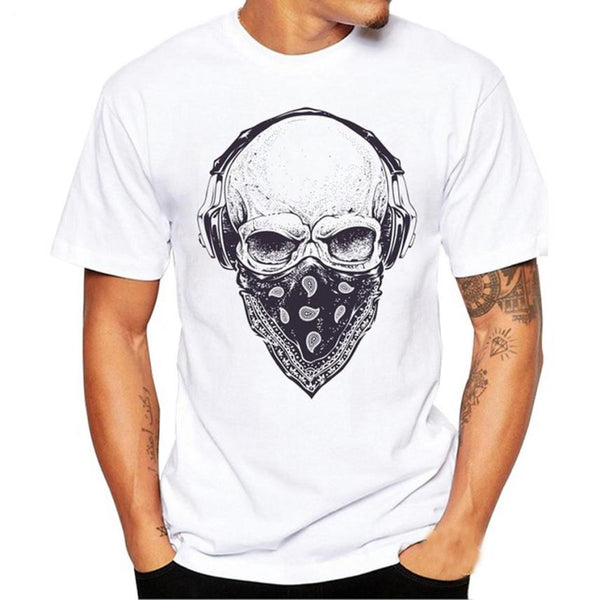 Men's New Fashion Skull Print Printed T Shirt