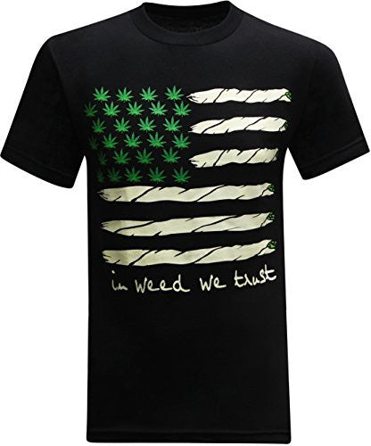 Black And Green California Republic Flag 420 Men's T-Shirt