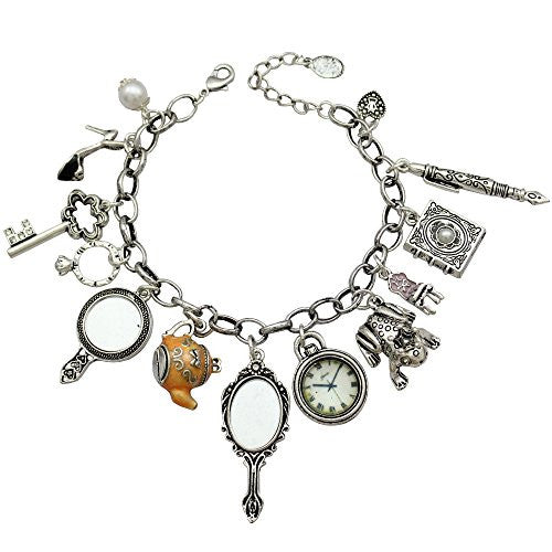 Super Cute Charms Cinderella Alice in Wonderland Charm Bracelet