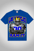 True Blue And Black Los Angles Ram It Football T-Shirt - Ace Gift Shop