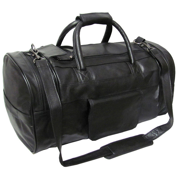 Men's Gift Black Leather Carry On Duffel Bag - Ace Gift Shop