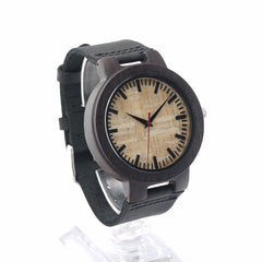 Modern Black Bambo Men's Watch Sleek Black Wood Finish - Ace Gift Shop