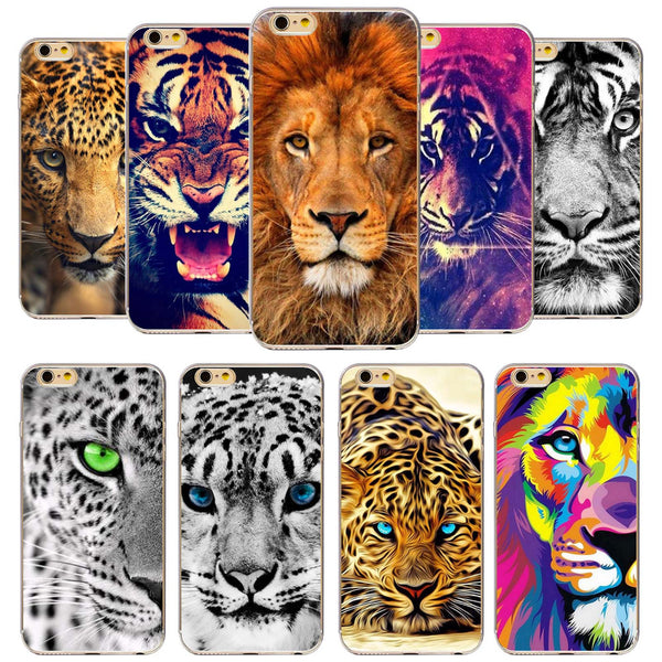 Tiger Lion Phone Case For Apple iPhone