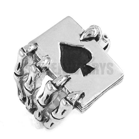 Ace Claw Spades Poker Ring Stainless Steel Jewelry Cool
