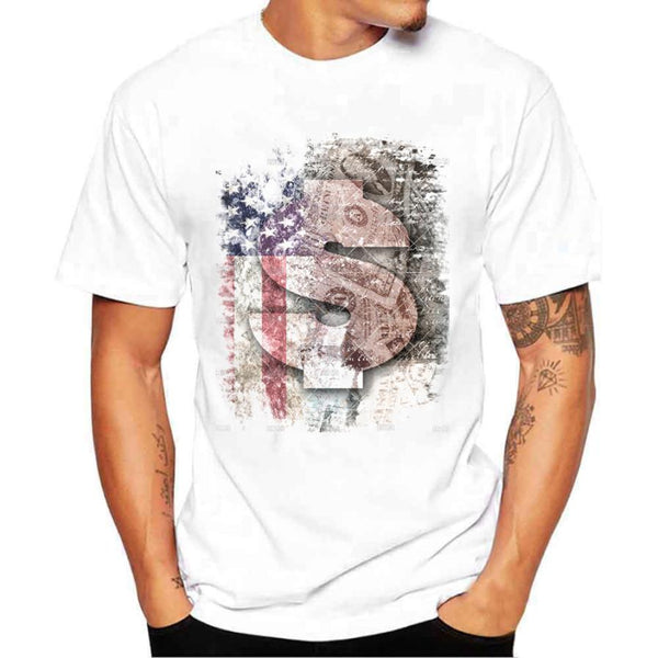 USA Flag Money Print T-Shirt