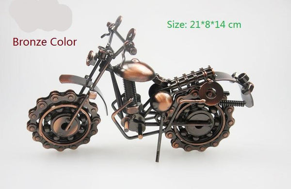 Cool Bronze Color And Gray Metal Motorcycle Model Toys for Man Kids Birthday Gift