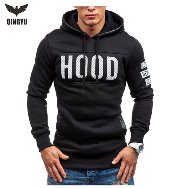 "We Here ""Hood""Hoodies Men Sweatshirt Long Sleeve Pullover Hooded"