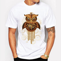 Men's Gold Cat Clock T-shirt