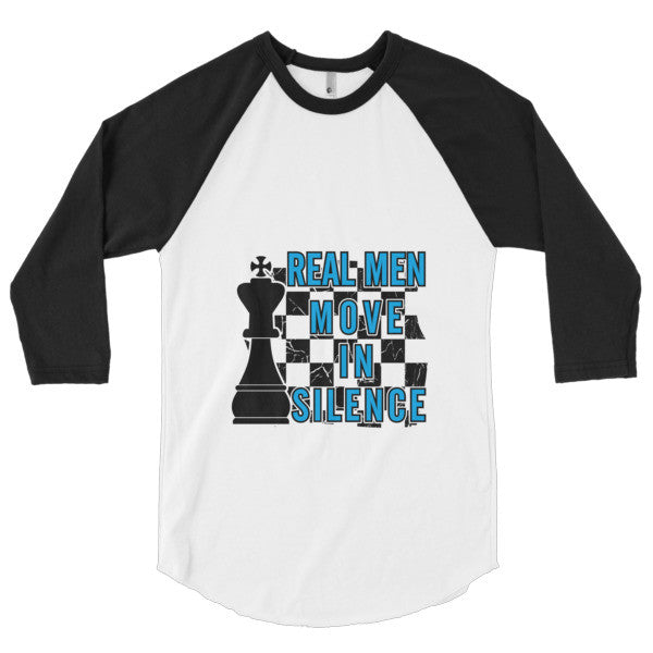 Real Men Chess Player 3/4 Sleeve Raglan Shirt - Ace Gift Shop