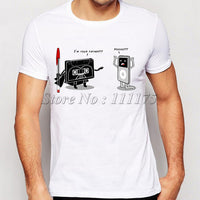 Men's Funny Music Player Ipod Printed T-Shirt Summer