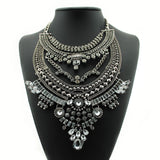 Wedding Bride Cluster Style Crystal Necklace - Ace Gift Shop