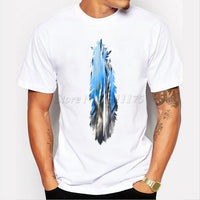 Colorful Print Men's  T-Shirt Short Sleeve