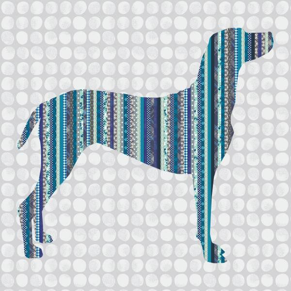 Man's Best Friend - Striped Dog Quilt - Custom Quilts by Stitched