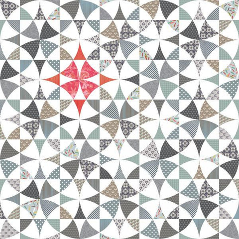 Chic Country - Modern Geometric Quilt - Custom Quilts by Stitched