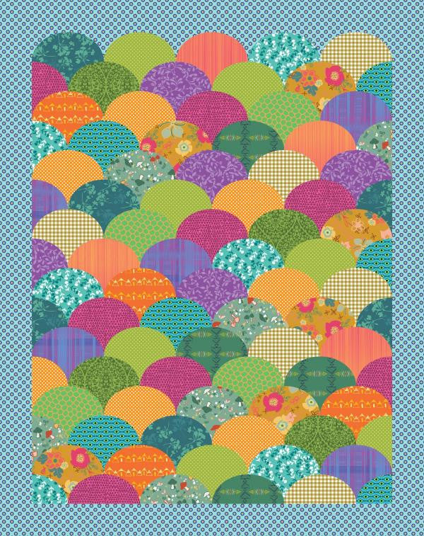 Clambake - Modern Geometric Quilt - Custom Quilts by Stitched