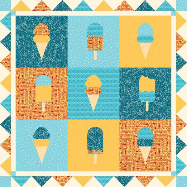 Cool Treats Ice Cream Quilt - Custom Quilts by Stitched
