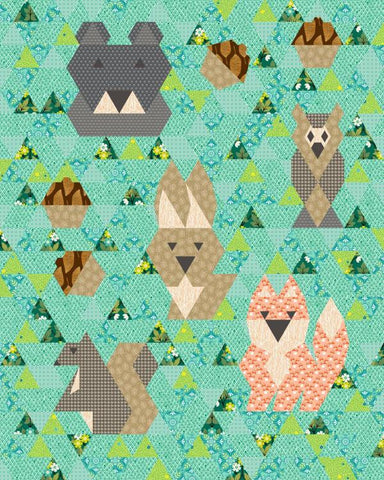 Forest Friends Baby Quilt - Custom Quilts by Stitched