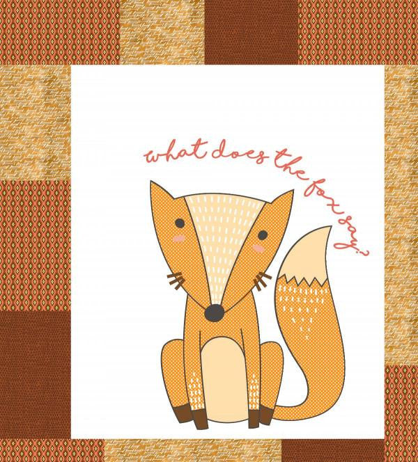 What Does the Fox Say? Quilt