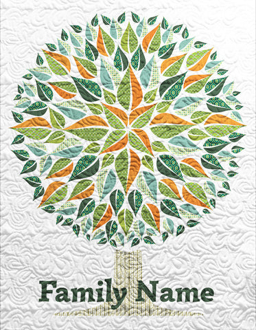 Personalized Modern Family Tree Quilt - Custom Quilts by Stitched