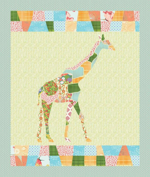 G is for Giraffe - Giraffe Quilt - Custom Quilts by Stitched