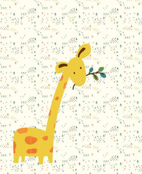 Goofy Giraffe Baby Quilt - Custom Quilts by Stitched