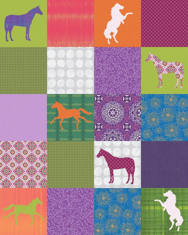 Horse Crazy Quilt - Custom Quilts by Stitched